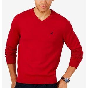 Mens Izod Red V-Neck Sweater Sz XXL